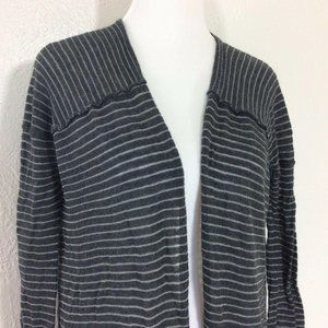 Free People Open Front Cardigan Striped
